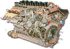 Alfa V12 Cosworth DFV Porsche flat 8 Ferrari V8 Honda V12 BRM V16 Matra V12 BMW turbo 4 BRM H16