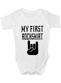 My First Rock Top Music Funny Boys Girls Baby Babygrow Gift 0 - 18 Months