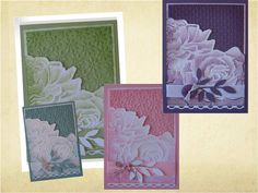 card making photo tutorial ... embossed roses with water color  .... Stampin' Up!