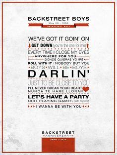 Backstreet Boys - Poster, Backstreet Anniversary #typo l @Backstreet Boys @skulleeroz @Vickie DeLuna @brian_littrell @Nick Carter