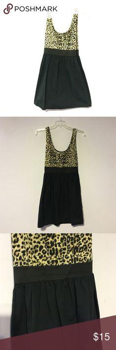 Selling this Leopard and black casual day dress on Poshmark! My username is: katiebat. #shopmycloset #poshmark #fashion #shopping #style #forsale #Xhilaration #Dresses & Skirts