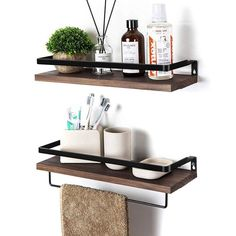 Wall Mounted Storage Shelves, Bathroom Wall Shelves, Wood Wall Shelf, Kitchen Shelves, Bathroom Sets, Wood Shelves, Kitchen Hooks, Kitchen Wall Storage, Kitchen Dining