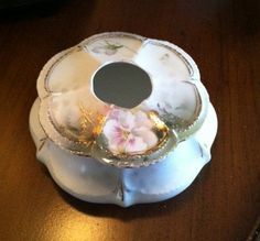 Antique Porcelain Hair Receiver