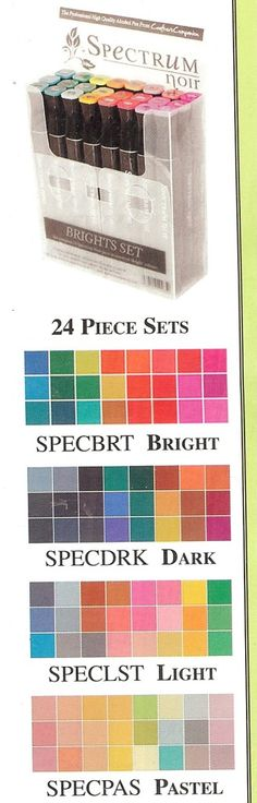 Spectrum Noir Alcohol Markers 4 Beautiful 24 Piece Sets to Choose from New DB | eBay