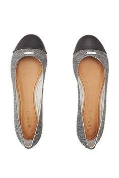 Esprit / textile ballerinas + imitation leather toe