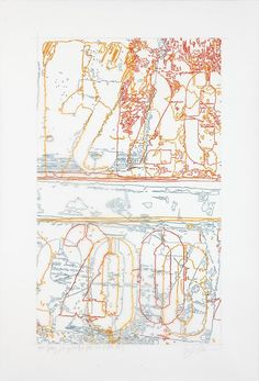 INGRID CALAME  #321 Drawing (Tracing from Buffalo, NY), 2010  Colored pencil on trace Mylar  50 X 34 inches
