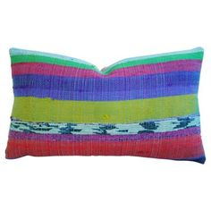 Check out this item at One Kings Lane! Hand-Looped/Tufted Chindi Fabric Pillow