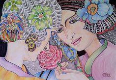 Art Deco Ladies by Giselle Luske