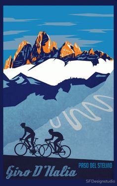 Giro D'Italia retro cycling poster                                                                                                                                                                                 More