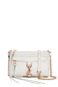 bb809d222b7c Rebecca Minkoff Mini M.A.C. Clutch. Love the rose gold combination with  white. Convertible Backpack