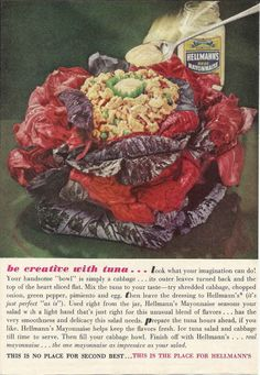 Impress your guests by serving crappy tuna salad in a bloody diaper made of cabbage. Be sure to use your action spoon.