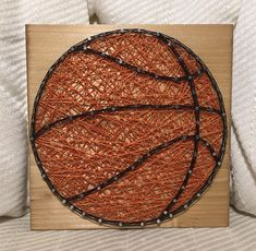 "Ready to ship basketball string art! Size is approx. 7"" by 7"", comes as pictured. Will ship tomorrow"