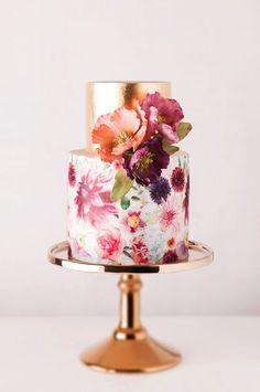 Torte // Frühling / Blumen / Gold / pompös