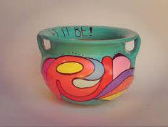 Resultado de imagen para tazas pintadas a mano