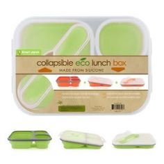 Collapsible reusable lunch boxes | Good to fit in backpack and not take up extra space