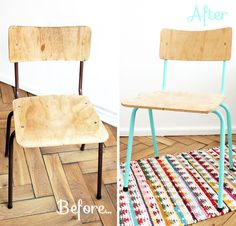 Chaise diy on pinterest masking tape decoupage chair and chairs - Relooker chaise bois ...