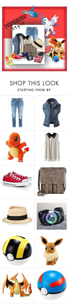 """""""My Pokemon Trainer Outfit"""" by arnauthull ❤ liked on Polyvore featuring Frame Denim, J.TOMSON, Converse, Patricia Nash and Eugenia Kim"""