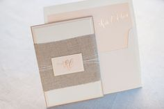 Kate + Cleon's Romantic Rose Gold Foil Wedding Invitations by Gus Ruby Letterpress   gusandruby.com