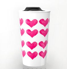 HEARTS TRAVEL Mug by annechovie on Etsy