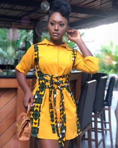Look at this Cool womens african fashion African Shirt Dress, African Wear Dresses, Latest African Fashion Dresses, African Inspired Fashion, African Print Fashion, African Attire, Mode Swag, Moda Afro, Ankara Short Gown Styles