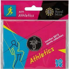Price: $4.95 - Olympics The Royal Mint London 2012 Sports Collection Athletics 50p Coin - TO ORDER, CLICK ON PHOTO