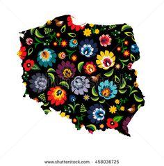 Polskie wzory ludowe, polski wzór łowicki, Łowicz, łowickie Poland shape polish, decoration, wzory, map, floral, unique, history, region, folk, multicolor, borders, traditional, lowickie, contour, coloured, trend, illustration, decorative, design, color, colorful, text, regional, postcard, country, vintage, background, nationality, souvenir, embroidery, flower, european, culture, folk-art, poland, decor, card, ethnic, fashion, folklore, tradition, slavic, pattern