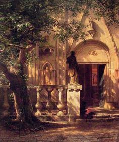 new to site Bierstadt Albert Sunlight and Shadow 1862
