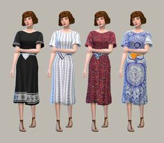 My Sims 4 Blog: Boho Dress by Anoherm