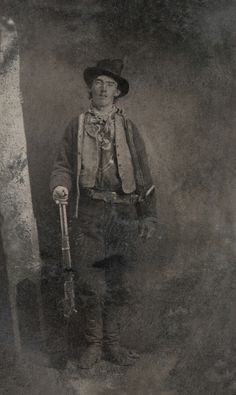 Billy The Kid.. This is actually the way the pic goes. For years we thought he was a south paw, but then we figured out that the picture was published backwards.. duh..