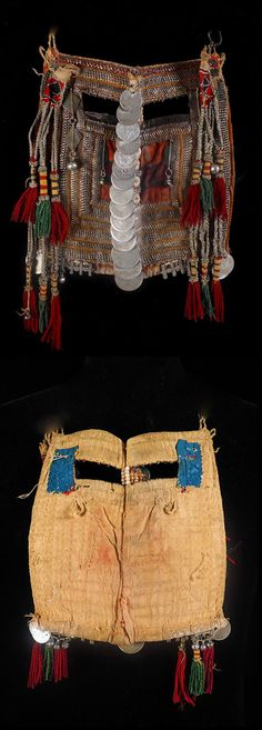 """Old and autentic Bedouin veil (mask) from Saudi The tribe this veil belongs to is """"Harb tribe """" located south-west of Najd region. 22 x 19 cm"""
