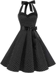 Shop the latest collection of DRESSTELLS Vintage Rockabilly Polka Dots Audrey Dress Retro Cocktail Dress from the popular stores - all in one Sexy Dresses, Vintage Dresses, Evening Dresses, Casual Dresses, Prom Dresses, Formal Dresses, Bridesmaid Dress, Sexy Summer Dresses, 50s Vintage