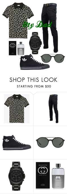 """""""Happy Father's day!"""" by apparel1977agency on Polyvore featuring Yves Saint Laurent, adidas, Giorgio Armani, Michael Kors, Gucci, men's fashion and menswear"""