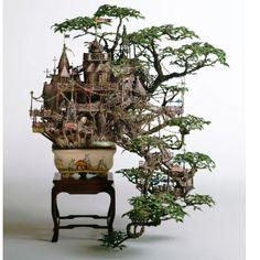 Bonsai tree houses. Awesome!!
