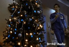 New party member! Tags: tv fail hulu nbc scrubs christmas tree zach braff john dorian christmas fail jd dorian