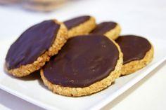 Cocinerando | Galletas de Avena con Cobertura de Chocolate (Hob-Nobs)