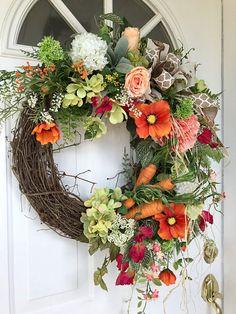 Easter Wreath-Spring Wreath for Door-Farmhouse Decor-Country