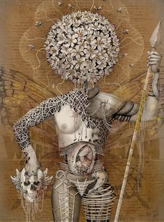 Just a human - Alexander Coroll Ink pen, watercolor, photo #Anatomy #Art #Surreal