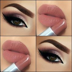 Gorgeous Makeup: Tips and Tricks With Eye Makeup and Eyeshadow – Makeup Design Ideas Makeup Eye Looks, Cute Makeup, Smokey Eye Makeup, Gorgeous Makeup, Pretty Makeup, Eyeshadow Makeup, Lip Makeup, Makeup Brushes, Beauty Makeup