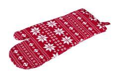 Motyw z zimowych rękawiczek przemycilismy na rękawice kuchenne:)