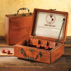 Shut the Box Game..Favorite of mariners since the Normans       https://shop.nationalgeographic.com/product/home/collectibles/national-geographic-shut-the-box-game?green=031CC48C-0F55-52BE-0AAC-2E2A0820733C