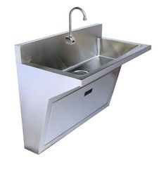 SURGEONS SCRUB SINKS   WALL HUNG SINK  16 GAUGE STAINLESS STEEL   SINGLE  STATION