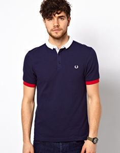 Shop Fred Perry Polo with Small Contrast Collar at ASOS. Summer Swag Outfits, Sports Polo Shirts, Fred Perry Polo, Mode Man, Polo Sweater, Moda Casual, Contrast Collar, Men Street, Gentleman Style
