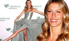 Gisele Bundchen fans out her Prophetik HEMP gown at rainforest gala....BAM! Now THIS is Fashion Forward!!