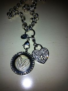 The new pave heart dangle from Origami Owl. Available in gold and silver! www.beckymccaskill.origamiowl.com. Independent Designer #45186