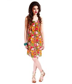 Samor Georgette Floral Print Shift Dress With Box Pleats Falling From Neckline, http://www.snapdeal.com/product/samor-georgette-floral-print-shift/786552486