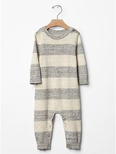 Rugby heathered sweater one-piece, light heather grey.