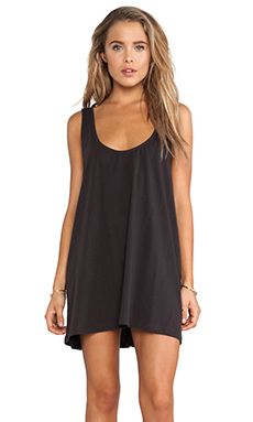 LENNI Maja Singlet Dress in Charcoal | REVOLVE