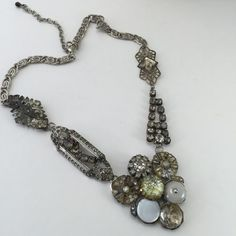 Unique Rhinestone Necklace Pendant One-of-a-Kind by ravished #vogueteam #gifts