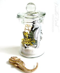 Lichen Terrarium / Nautical Home Decor Accessories by DoodleBirdie, $24.00- - I want!!