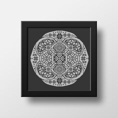 Chinese Traditional Folk Floral Mandala is a cross stitch pdf pattern recreated from a museum piece which is believed to have been first created between in Western China. Originally embroidered with blue thread on unbleached linen. Embroidery Alphabet, Folk Embroidery, Embroidery Stitches, Cool Patterns, Beautiful Patterns, Stitch Shop, Modern Cross Stitch, One Color, My Etsy Shop